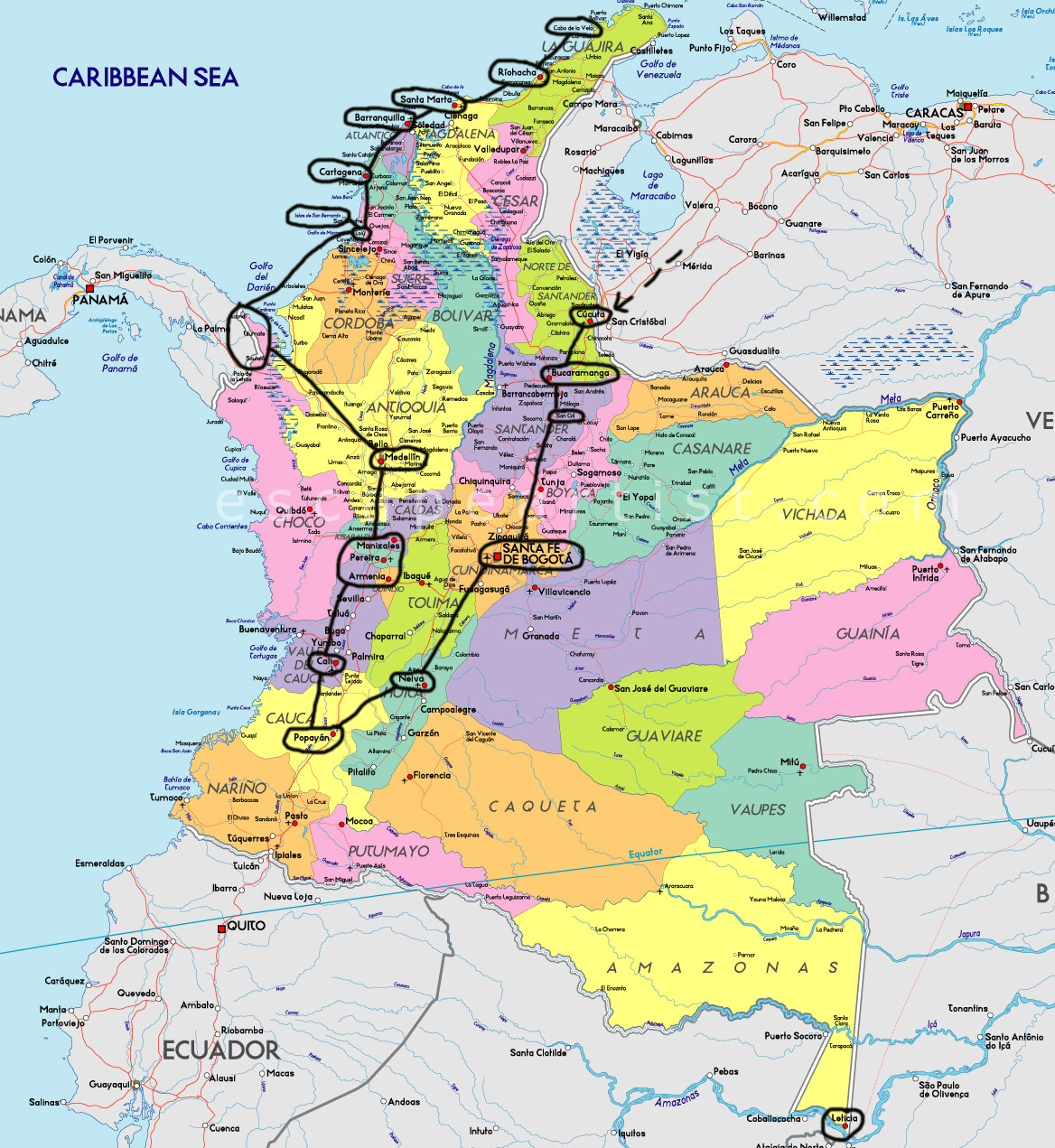 """alt=""""Itinerario di viaggio in Colombia"""""""