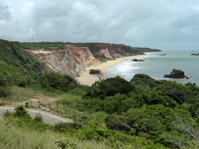 "alt=""Vista panoramica sul litoral sur di Joao Pessoa"""