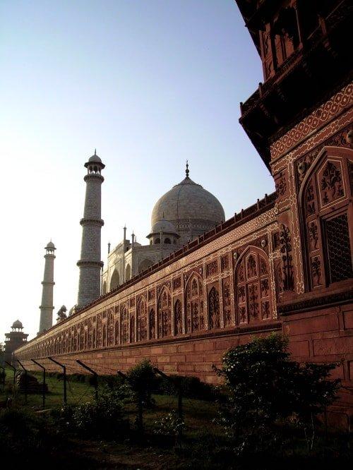 "alt=""Il Taj Mahal dall'esterno"""