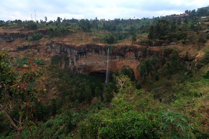 Vista panoramica su Sipi Falls dal Crow's Nest