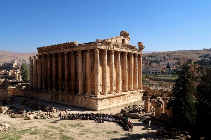 "alt=""""Il tempio di Bacco a Baalbek"""