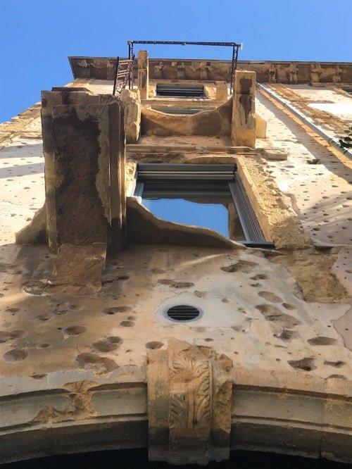 """alt=""""Il Beit Beirut mostra le sue cicatrici"""""""