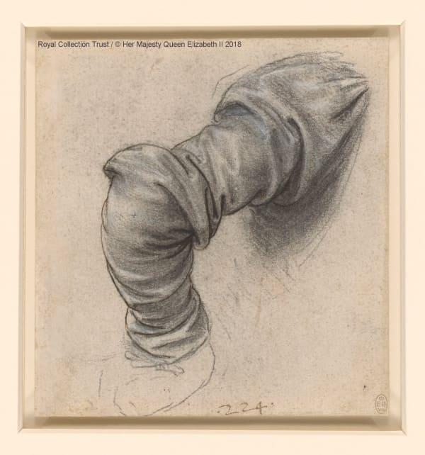 """alt=""""Uno dei disegni preparatori del Cenacolo Vinciano, parte della Royal Collection Trust di Windsor della regina Elisabetta II"""""""