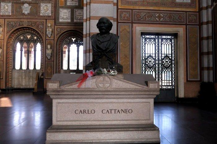 """alt=""""Carlo Cattaneo, uno degli Illustri del Cimitero Monumentale di Milano"""""""