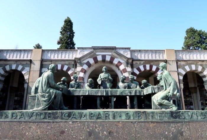 """alt=""""Riproduzione dell'Ultima Cena al Cimitero Monumentale di Milano"""""""