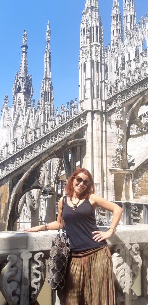 Sulle terrazze del Duomo di Milano